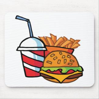 Fast Food Cheeseburger Mouse Pad
