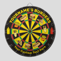 Fast Food Dartboard with Custom Text