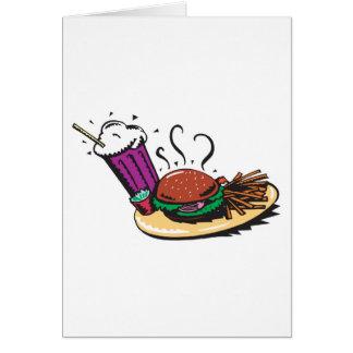 fast food diner meal card