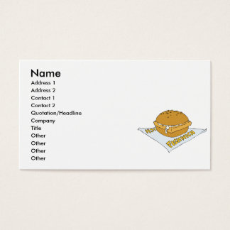 fast food fishwich sandwich business card