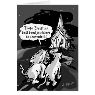 Fast food for lions! greeting card