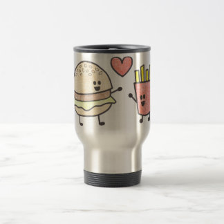 Fast Food Friends 15 Oz Stainless Steel Travel Mug
