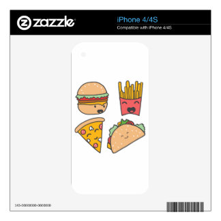 fast food friends iPhone 4S decal