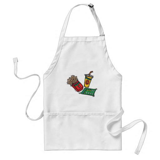 fast food games sweepstakes adult apron