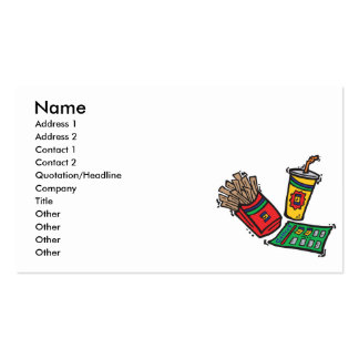 Fast food restaurant business cards templates zazzle for Get business cards fast