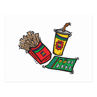 fast food games sweepstakes postcard