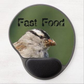 Fast Food Hungry Bird Gel Mousepad
