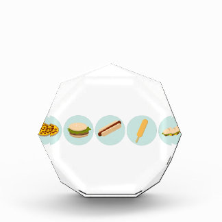 Fast Food Icon Drawings Acrylic Award