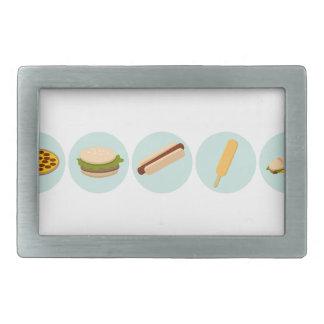 Fast Food Icon Drawings Belt Buckle