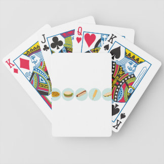 Fast Food Icon Drawings Bicycle Playing Cards