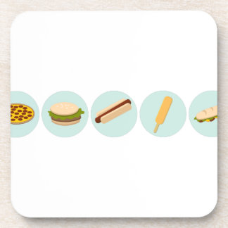 Fast Food Icon Drawings Coaster