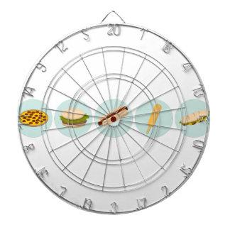Fast Food Icon Drawings Dartboard