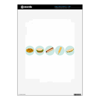 Fast Food Icon Drawings Decals For iPad 2