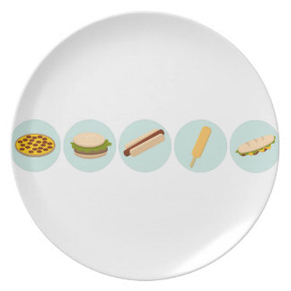 Fast Food Icon Drawings Dinner Plate