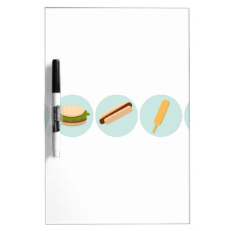Fast Food Icon Drawings Dry-Erase Board