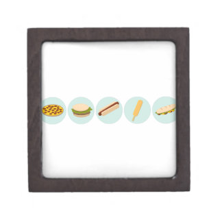 Fast Food Icon Drawings Gift Box