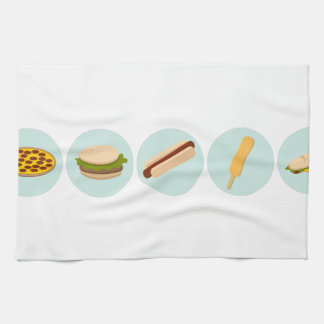 Fast Food Icon Drawings Hand Towel