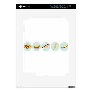 Fast Food Icon Drawings iPad 3 Skin