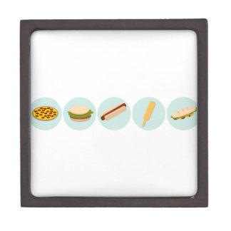 Fast Food Icon Drawings Keepsake Box