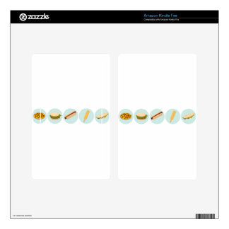 Fast Food Icon Drawings Kindle Fire Decal