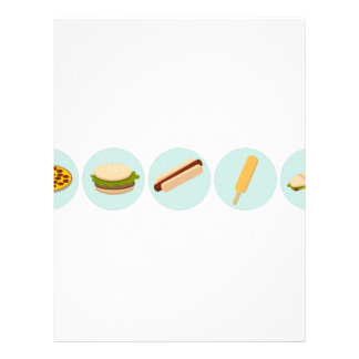 Fast Food Icon Drawings Letterhead