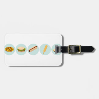 Fast Food Icon Drawings Luggage Tag