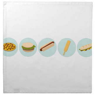 Fast Food Icon Drawings Napkin