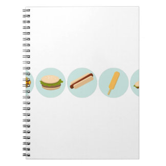 Fast Food Icon Drawings Notebook