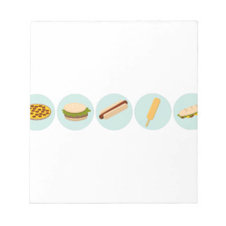 Fast Food Icon Drawings Notepad