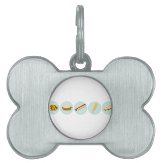 Fast Food Icon Drawings Pet Tag