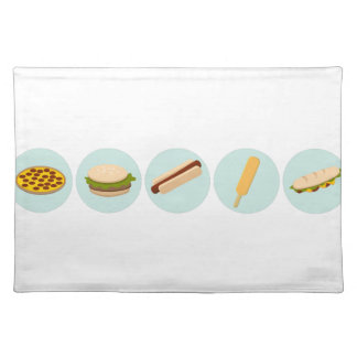 Fast Food Icon Drawings Placemat