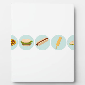 Fast Food Icon Drawings Plaque