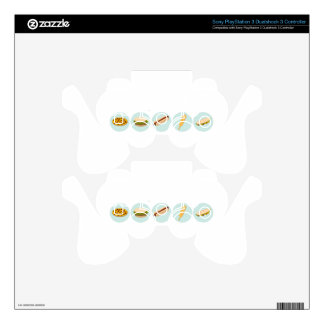 Fast Food Icon Drawings PS3 Controller Skin