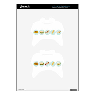 Fast Food Icon Drawings Xbox 360 Controller Skin