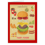 Fast food info graphic greeting card
