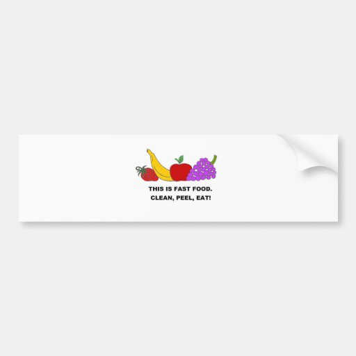 FAST FOOD.jpg Car Bumper Sticker