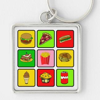 Fast Food Junkie key chain