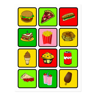 Fast Food Junkie postcard