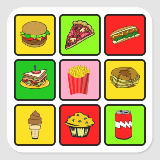 Fast Food Junkie Stickers Zazzle
