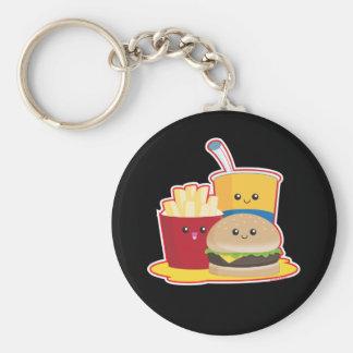 Fast Food Basic Round Button Keychain