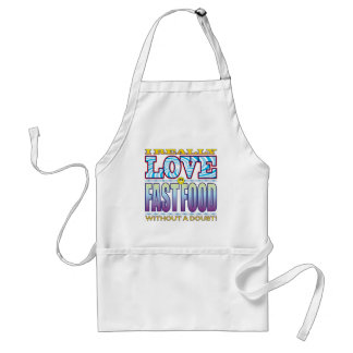 Fast Food Love Face Adult Apron