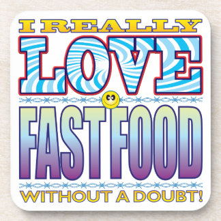 Fast Food Love Face Drink Coaster