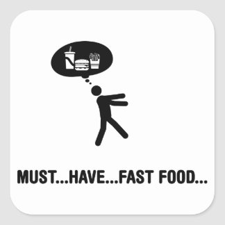 Fast Food Lover Stickers