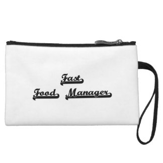 Fast Food Manager Classic Job Design Wristlet Clutch