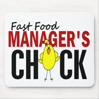 Fast Food Manager's Chick Mouse Pad