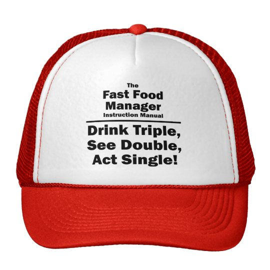 fast food manager trucker hat