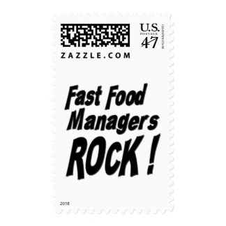 Fast Food Managers Rock ! Stamp