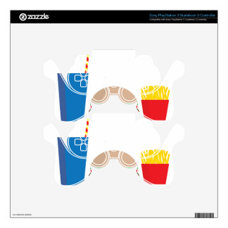 fast food meal decal for PS3 controller