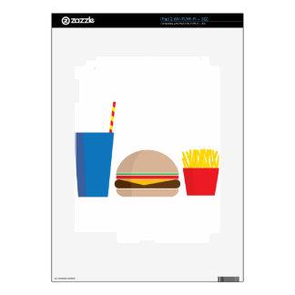 fast food meal iPad 2 decal