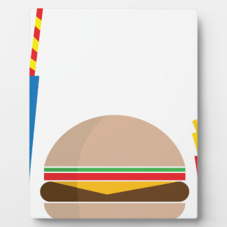 fast food meal plaque